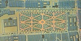 Trazo colonial de la Alameda Central de la Ciudad de México, por Eduardo Mogg