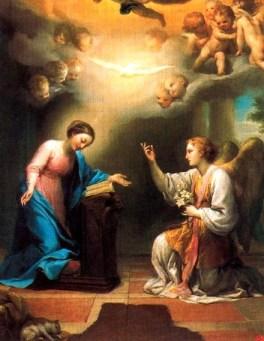 La Anunciación. Anton Raphael Mengs. Fuente: Wikipedia