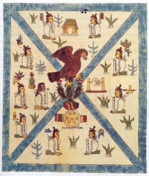 Fundación de  Tenochtitlán, Códice Mendoza.