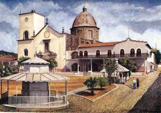 Pintura de Sergio Higareda. Tacámbaro, 1950.