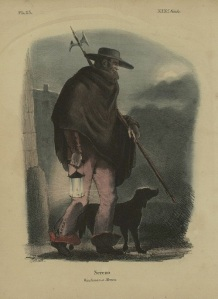 """""""Sereno Wachman a Mexico"""". Litografía de Claudio Linati 1828"""