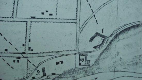 Mapa del Barrio de las Tenerias 1846