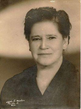 Doña Mercedes Echegoyen de Córdova, mi bisabuela